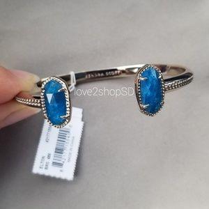 Kendra Scott Aqua Apatite Elton gold cuff bracelet
